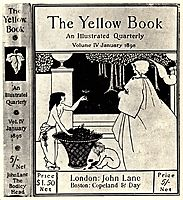 Design (unused) for the cover of Volume IV of -The Yellow Book-, beardsley
