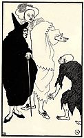 Don Juan, Sganarelle and the Beggar, 1896, beardsley