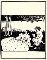 Front Cover for The Yellow Book Vol. V, beardsley