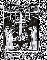 How Four Queens found Launcelot Sleeping, beardsley