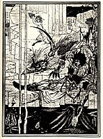How King Arthur Saw the Questing Beast, beardsley