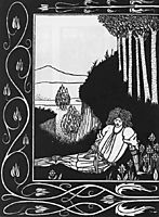 How King Mark and Sir Dinadan Heard Sir Palomides I, beardsley