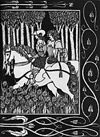 How King Mark and Sir Dinadan Heard Sir Palomides II, beardsley