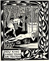 How King Marke Found Sir Tristram, beardsley