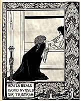 How La Beale Isoud Nursed Sir Tristram, beardsley