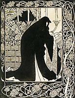How Queen Guenever Made Her a Nun, 1894, beardsley