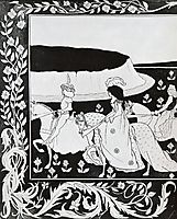 How Queen Guenever rode on Maying I, beardsley
