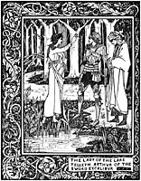 The Lady of the Lake Telleth Arthur of the Sword Excalibur, beardsley