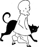 Pierrot and cat, from St. Paul-s, 1893, beardsley