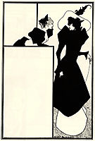 Poster advertising -The Spinster-s Scrip-, beardsley