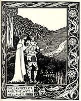 Sir Launcelot and the Witch Hellawes, beardsley