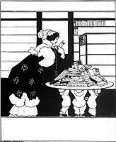 Woman in a Bookshop, beardsley