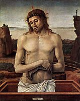 Dead Christ in the Sepulchre, c.1460, bellini