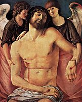 Dead Christ Supported by Angels, 1485, bellini