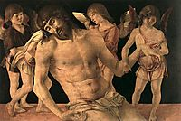 Dead Christ Supported by Angels, c.1474, bellini