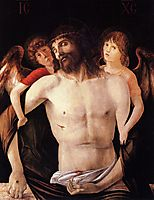The Dead Christ Supported by Two Angels, bellini