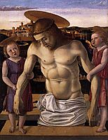 Dead Christ Supported by Two Angels, c.1460, bellini