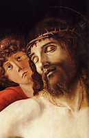 The Dead Christ Supported by Two Angels, detail, bellini