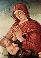 Madonna in Adoration of the Sleeping Child, c.1475, bellini