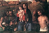 Madonna and Child with Saints and a Donor, 1507, bellini
