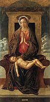 Madonna Enthroned Cherishing the Sleeping Child, 1475, bellini
