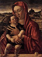 Madonna, with Child Standing on a Parapet, 1469, bellini