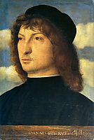Portrait of a venetian gentleman, bellini