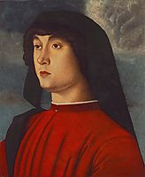 Portrait of a Young Man in Red, c. 1480, bellini