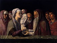 Presentation at the Temple, 1464, bellini