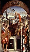 St. Jerome, St. Christopher and St. Augustine, 1513, bellini