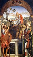 Sts Christopher, Jerome and Ludwig of Toulouse, 1513, bellini