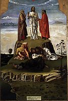 Transfiguration of Christ on Mount Tabor, c.1455, bellini