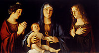 Virgin And Child Between Saint Catherine And Saint Mary Magdalen, 1500, bellini