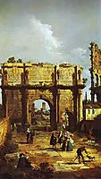 The Arch of Constantine, 1742, bellotto
