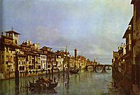 Arno in Florence, c.1742, bellotto