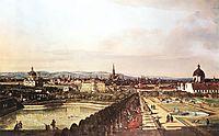 The Belvedere from Gesehen, Vienna, 1759, bellotto