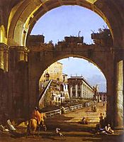 Capriccio of the Capitol, c.1743, bellotto