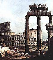 Capriccio with the Colosseum, c.1745, bellotto