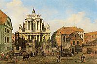 Carmelite Church in Warsaw, 1780, bellotto