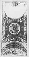 Ceiling decoration design of a hall in the Ujazdów Castle, c.1767, bellotto