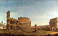 Colosseum and Arch of Constantine (Rome), c.1742, bellotto