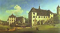 Courtyard of the Castle at Königstein from the South, 1756, bellotto