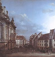 Dresden, the Frauenkirche and the Rampische Gasse, c.1750, bellotto