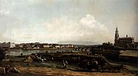 Dresden from the Left Bank of the Elbe, Below the Fortification, 1748, bellotto