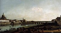 Dresden from the Right Bank of the Elbe, above the Augustusbrücke, 1747, bellotto