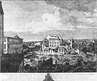 Dresden, the Ruins of the Pirnaische Vorstadt, 1766, bellotto