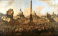 Entry into Rome of Jerzy Ossolinski, Emissary of Wladyslaw IV of Poland with Pope Urban VIII, 1778, bellotto