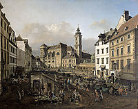 Freyung in Vienna, View from the southeast, 1758, bellotto