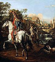 A Hussar on horseback, 1773, bellotto
