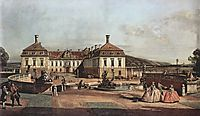 The imperial summer residence, courtyard, 1758, bellotto